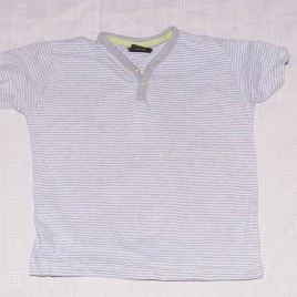 Next grey striped t-shirt 2-3 years