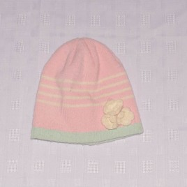 Pink & green hat 3-5 years