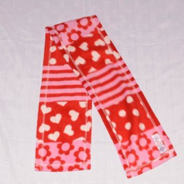 Red & Pink scarf 1-2 years