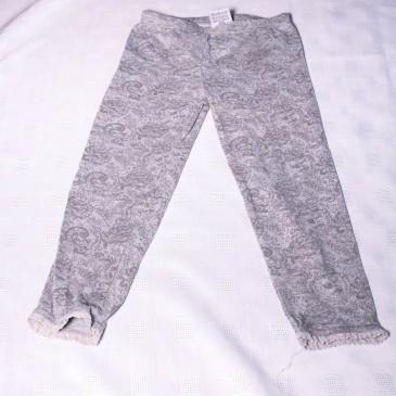 Grey patterned leggings 4-5 years