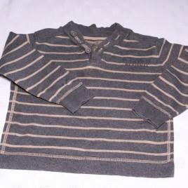 Zara black & grey striped jumper 2-3 years
