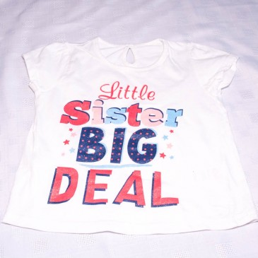 Cream 'Little Sister' t-shirt 2-3 years