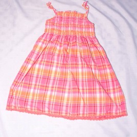 M&S pink & orange dress 4-5 years