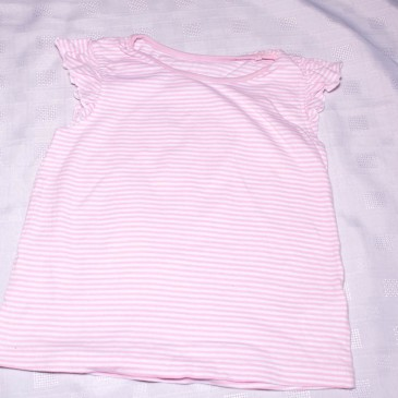 Pink & white striped t-shirt 4-5 years