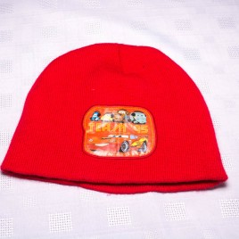 Red Lightening McQueen hat 3-5 years