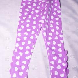 Purple & white hearts leggings 2-3 years