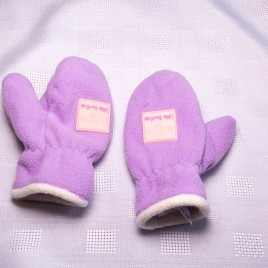 Purple mitten gloves 6-12 months