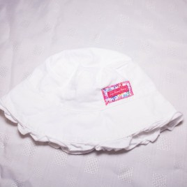 Jojo Maman Bebe white sun hat 1-2 years