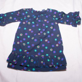 Gap navy patterned tunic/dress 18-24 months