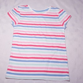 Pink, mint & blue stripy t-shirt 3-4 years