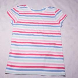 Pink, mint & blue stripy t-shirt 3-4 years