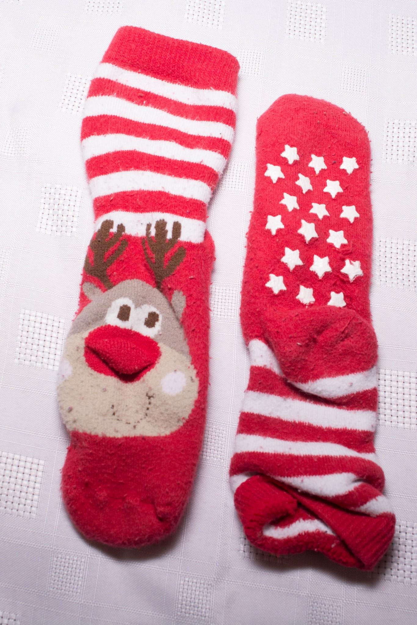 Christmas Reindeer Slipper Socks 12-18 Months - Aylsham Kids