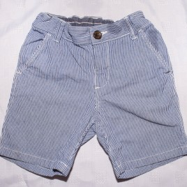 blue stripy shorts 18-24 months