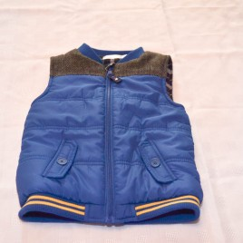 Blue body warmer gilet 2-3 years