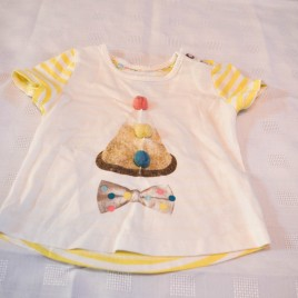 Mamas & Papas clown t-shirt  3-6 months