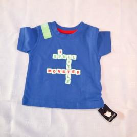 New 'Little monster' t-shirt 9-12 months