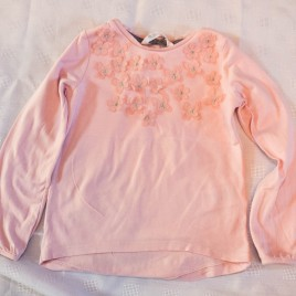 H&M pink flower top 2-4 years
