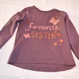 Purple 'Favourite Sister' top 2-3 years