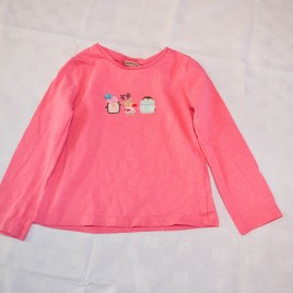 Next pink Christmas penguin top 2-3 years