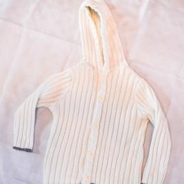 Jojo Maman Bebe cream hooded cardigan 2-3 years