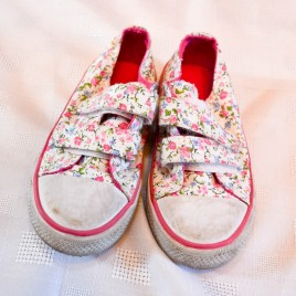 Mothercare flowered canvas shoes size 6