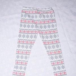 Pink & grey patterned leggings 4-5 years