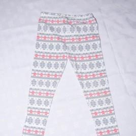 Pink & grey patterned leggings 4-5 years