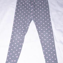 Navy & pink spotty leggings 4-5 years