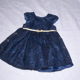Navy lace dress 6-9 months