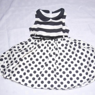 White & black spotty prom dress 5 years
