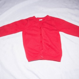 H&M red cardigan 18-24 months