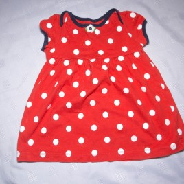 Carters red spotty t-shirt 9 months