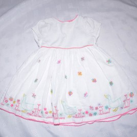 John Lewis ducks & butterflies  embroidered dress 6-9 months