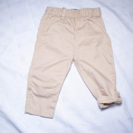 Brown rolled leg trousers 6-9 months