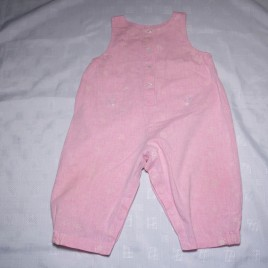 M&S pink dungarees 6-12 months