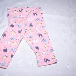 Pink cat leggings 6-9 months