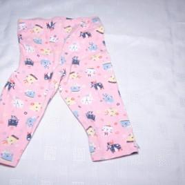 Pink cat leggings 6-9 months