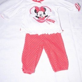 Minnie Mouse top & trousers outfit 6-9 months