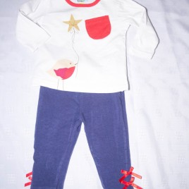 Bird top & leggings outfit 6-9 months