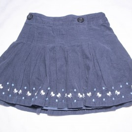 Jasper Conran Junior navy cord skirt 3-4 years