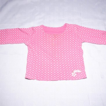 Pink hearts top 6-9 months