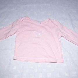 Pink 'little one' bird top 6-9 months