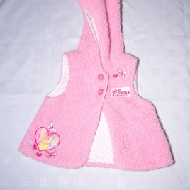 Disney Princess pink fluffy gilet 6-9 months