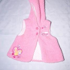 Disney Princess pink fluffy gilet 6-9 months