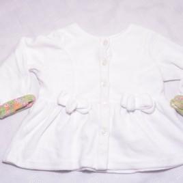 White velvet feel cardigan 18 months
