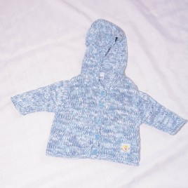 Blue hooded cardigan 0-3 months