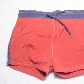 Red swim shorts 12-18 months