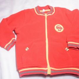 Red fleece cardigan 18 months
