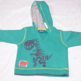 Green dinosaur hoodie 6-12 months