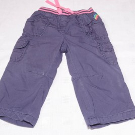 Mothercare purple cargo trousers 9-12 months